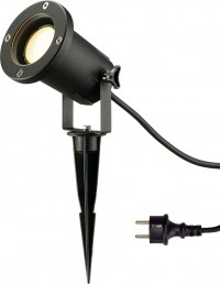 SLV NAUTILUS SPIKE outdoor spike luminaire, QPAR51, IP65, black, max.