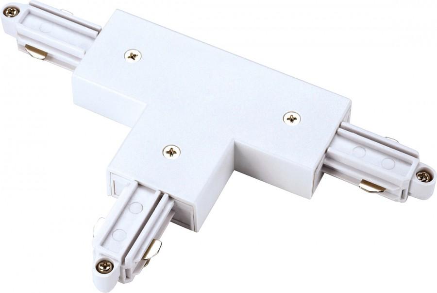 T-Verbinder für 1-Phasen HV-Stromschiene Schutzleiter rechts silbergrau