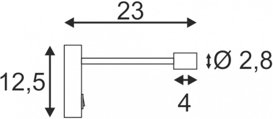 schwarz EEK: A++ A 3000K LED Wandleuchte PIPOFLEX 4W