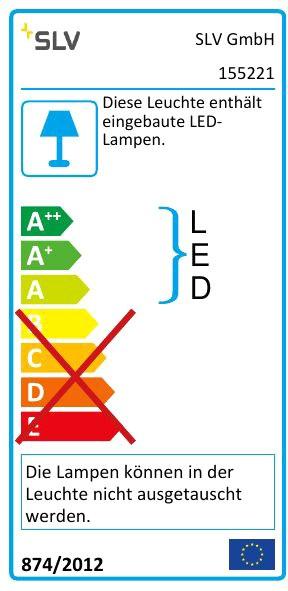 LED 9,7W weiß L//B//H 30,1//9//10,1 cm SLV CHROMBO Wandleuchte 3000K