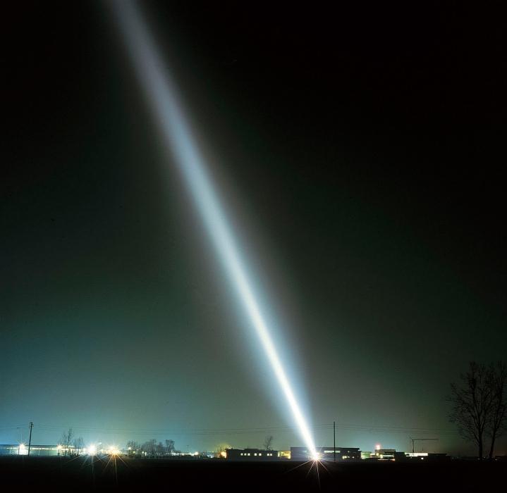 луч прожектора над черным морем в 80годах При регулировке